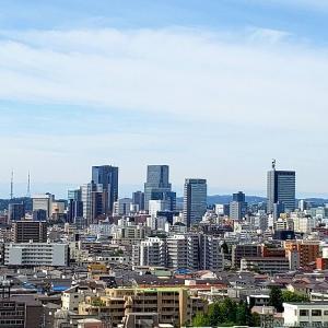 仙台の中心部を眺める