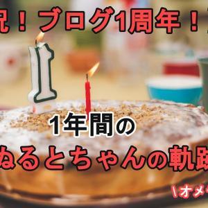 【祝!ブログ1周年!】1年間のぬるとちゃんの軌跡