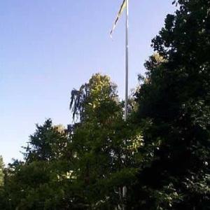 スウェーデンの国旗掲揚