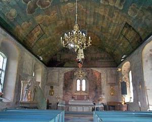 ファルコンベリーの教会内部