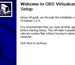 [OBS] 仮想カメラ 2.0.5 (Windows版)