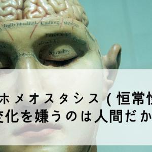 【ホメオスタシス(恒常性)】変化を嫌うのは人間だからだ。