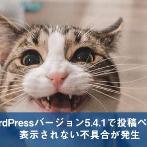 【WordPress】バージョン5.4.1においてパーマリンクの設定により投稿ページが表示されない不具合が発生