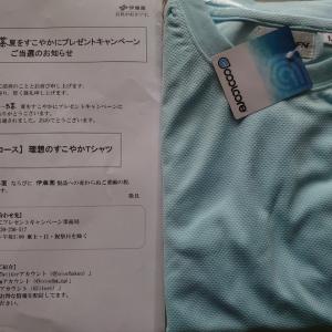 懸賞当選!伊藤園Tシャツ5柄
