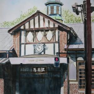 原宿駅を描いてみました。