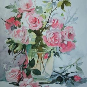バラの花に挑戦