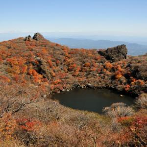 2020年10月紅葉の大船山頂上を岳麓寺登山口より目指す。