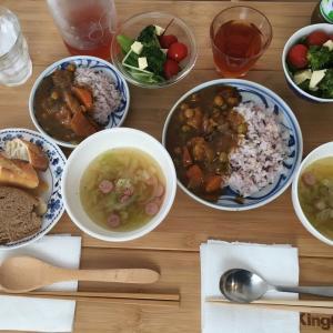 チキンと豆のカレー