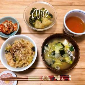 豚小松菜ご飯