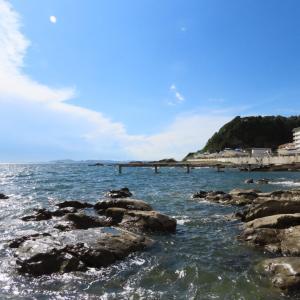 富津金谷IC入口付近から見える海の景色