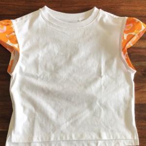 DIY Tシャツリメイク! フリル袖Tシャツの作り方 T-shirts remake