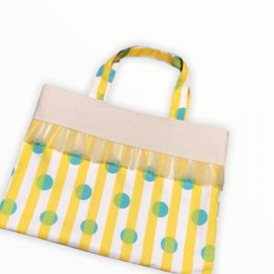 【入園・入学 ハンドメイド】レッスンバッグの作り方 裏地付き フリル付き easy sewing!