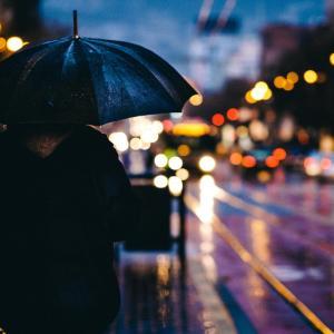 雨の中での通院日
