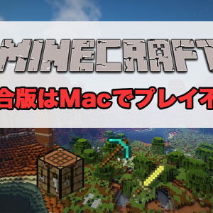 【Minecraft】PCで遊ぶ場合、統合版はWindowsのみ対応!Macには非対応のため注意!