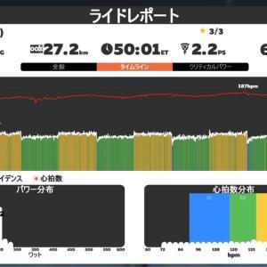 2020/7/7 Zwift SST フォーム矯正ウイーク