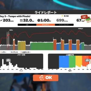 2021/7/28 Zwift 4wk FTP Booster Week 2 Day 3 - Tempo with Finale!