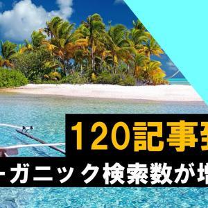 【ブログ】120記事到達!少しずつオーガニック検索数が増加!