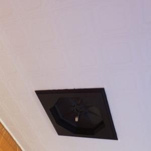 リビング天井のペンキを塗りました