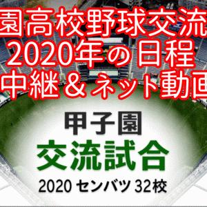 【甲子園高校野球交流試合】2020年の日程とテレビ中継・ネット動画配信!