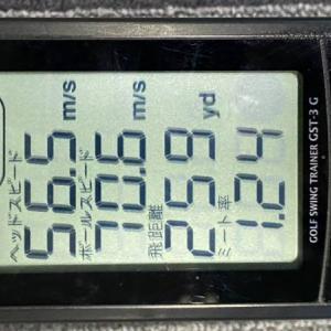 ヘッドスピードが少しだけ自己最速を更新!56.5m/sにアップ!最近の練習内容は?