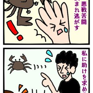 蟹VSカニの掴みかたを知らない旦那