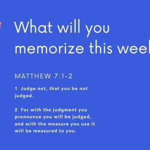 The Memory Challenge: Week 1 and Week 2