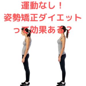 運動なし!姿勢矯正ダイエットって効果ある?