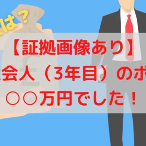 【証拠画像あり】20代社会人(3年目)ボーナスは○○円でした!その使い道は?