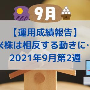 【運用成績報告】2021年9月第2週