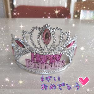 長女、6歳になりました!誕生日おめでとう!