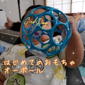 生後3ヶ月!オーボールは初めてのおもちゃにピッタリ