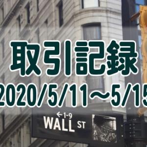 【取引記録】2020/5/18週の取引(利益$660、含み損$-12,230)