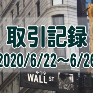 【取引記録】2020/6/22週の取引(利益$690、含み損$-14,169)