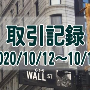 2020/10/12週の米国株オプション取引(確定利益$1,133、含み損$-2,526)