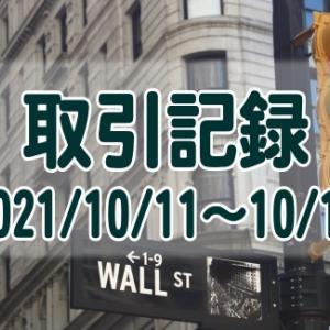 2021/10/11週の米国株オプション取引(確定利益$331、含み損$-18,295)