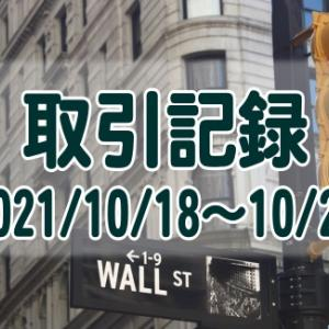 2021/10/18週の米国株オプション取引(確定利益$803、含み損$-20,657)