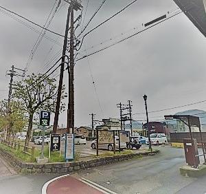 城崎温泉街の駐車場