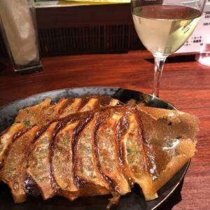 餃子とスパークリングワイン
