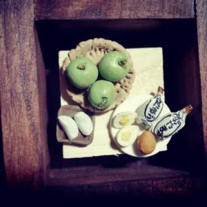 鳥取県のミニチュア作り 梨と砂たまご