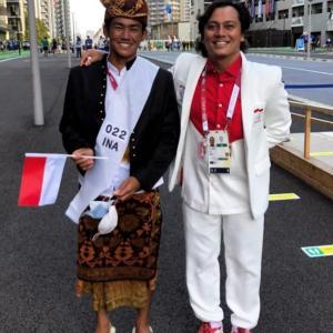 オリンピック開会式★無事にインドネシアの旗手を務めました。
