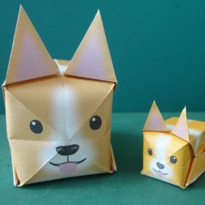 """アニまるッ!おりがみ 犬 Animal Origami """"Dog Cube"""""""