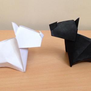 折り紙の犬 テリア 簡単な折り方 Origami Dog terrier