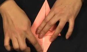 折り紙: イヌの折り方   Origami: Dog