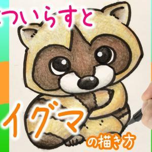 【可愛い動物イラスト】かわいい!アライグマの描き方