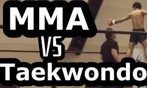 MMA vs taekwondo 1st round KO!