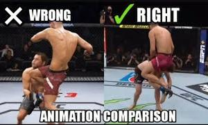 UFC 4 KNOCKOUTS ANIMATIONS CORRECTION VIDEO.. PLZ WATCH THIS EA SPORTS Comparison OF REAL VS GAME
