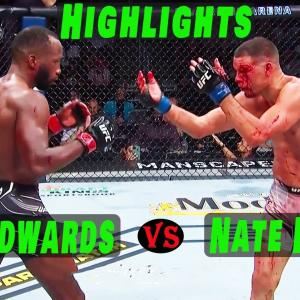 Nate Diaz vs Leon Edwards [Highlights] UFC 263