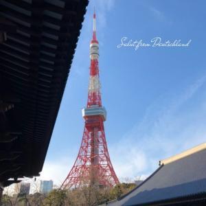 副反応悪化する2日目、東京タワーに想ふ。