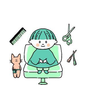 発熱続く副反応3日目、自宅で散髪!?