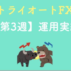 【コツコツ稼ぐ】トライオートFXの設定と実績を公開(第3週目)